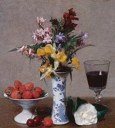 Still Life, 1869 by Fantin-Latour | Painting Reproduction