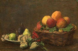 Still Life with Fruits, 1890 by Fantin-Latour | Painting Reproduction