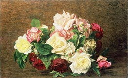 Roses, 1882 by Fantin-Latour | Painting Reproduction
