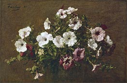 Petunias, 1881 by Fantin-Latour | Painting Reproduction