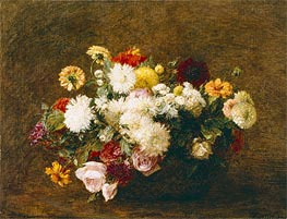 Bouquet of Flowers, 1894 by Fantin-Latour | Painting Reproduction