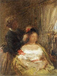 The Hairdresser, undated by Fantin-Latour | Painting Reproduction