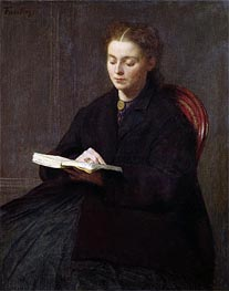 Reading, 1863 by Fantin-Latour | Painting Reproduction
