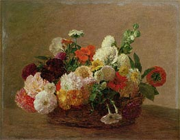 Flower Still Life | Fantin-Latour | Painting Reproduction