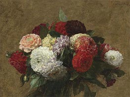 Dahlias | Fantin-Latour | Painting Reproduction