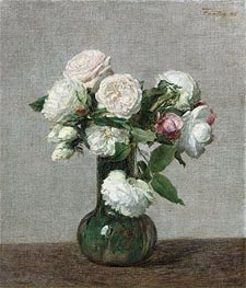 Roses, 1888 by Fantin-Latour | Painting Reproduction
