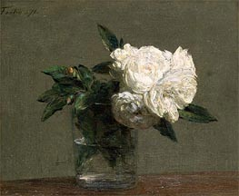 Roses, 1871 by Fantin-Latour | Painting Reproduction