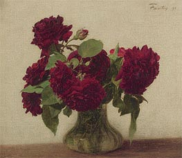 Dark Roses, 1891 by Fantin-Latour | Painting Reproduction