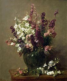 Still Life with Imperial Delphiniums | Fantin-Latour | Gemälde Reproduktion