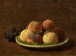 Peaches and Grapes, 1894 by Fantin-Latour | Painting Reproduction
