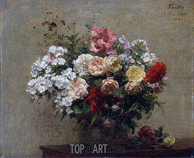 Summer Flowers, 1880 | Fantin-Latour | Painting Reproduction