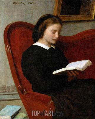 The Reader, 1861 | Fantin-Latour | Painting Reproduction