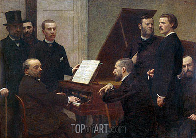 At the Piano, 1885 | Fantin-Latour | Gemälde Reproduktion