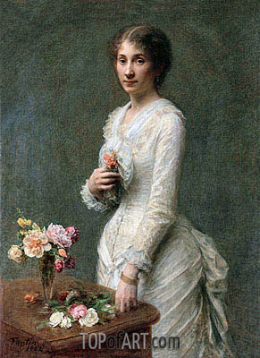 Madeleine Lerolle, 1882 | Fantin-Latour | Painting Reproduction