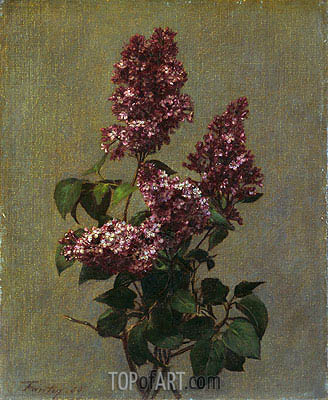 Spray of Purple Lilac, 1880 | Fantin-Latour | Painting Reproduction