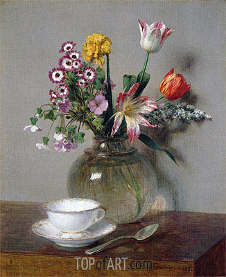 Spring Bouquet, 1865 | Fantin-Latour | Painting Reproduction