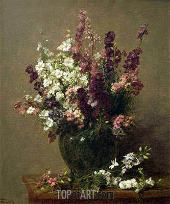 Still Life with Imperial Delphiniums, 1891 | Fantin-Latour | Gemälde Reproduktion