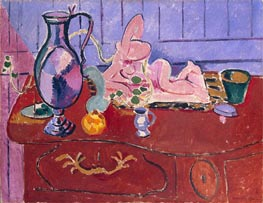 Pink Statuette and Jug on a Red Chest of Drawers | Matisse | Painting Reproduction