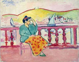 Woman on a Terrace | Matisse | Gemälde Reproduktion