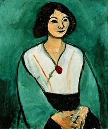 Lady in Green with a Red Carnation, 1909 von Matisse | Gemälde-Reproduktion