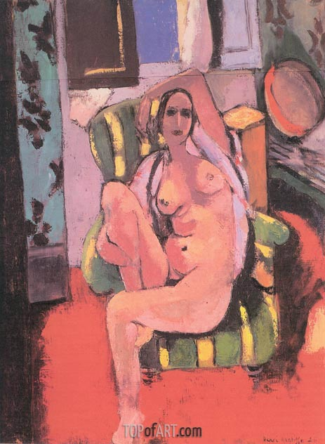 Nude with a Tambourine, 1926 | Matisse | Painting Reproduction