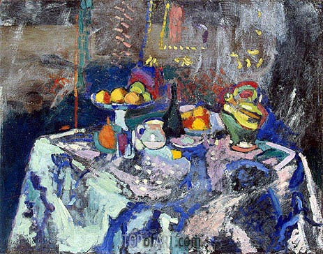 Vase, Bottle and Fruit, 1906 | Matisse | Painting Reproduction