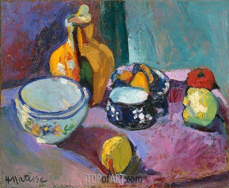 Dishes and Fruit, 1901   Matisse   Gemälde Reproduktion