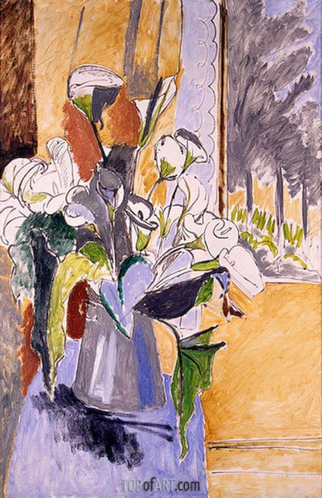 Bouquet of Flowers on a Veranda, c.1912 | Matisse | Gemälde Reproduktion