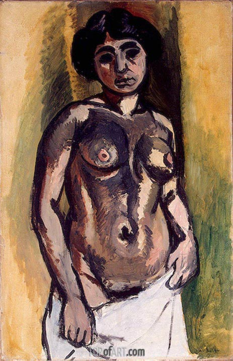 Nude (Black and Gold), 1908 | Matisse | Painting Reproduction