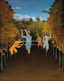 The Football Players, 1908 by Henri Rousseau | Painting Reproduction