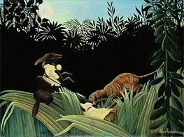 Scout Attacked by a Tiger | Henri Rousseau | Painting Reproduction