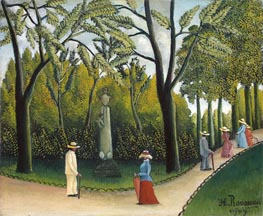 The Monument to Chopin in the Luxembourg Gardens, 1909 by Henri Rousseau | Painting Reproduction