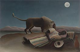 The Sleeping Gypsy, 1897 by Henri Rousseau | Painting Reproduction