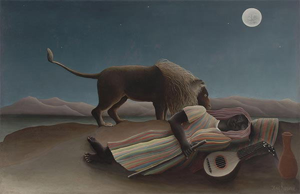 The Sleeping Gypsy, 1897 | Henri Rousseau | Painting Reproduction