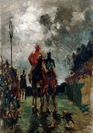 The Jockeys, 1882 by Toulouse-Lautrec | Painting Reproduction