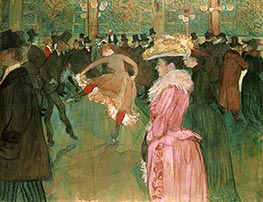 At the Moulin Rouge, The Dance, 1890 by Toulouse-Lautrec | Painting Reproduction