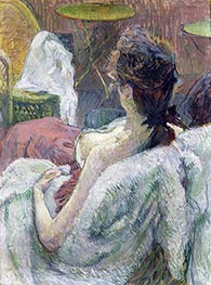 The Model Resting, 1889 by Toulouse-Lautrec | Painting Reproduction