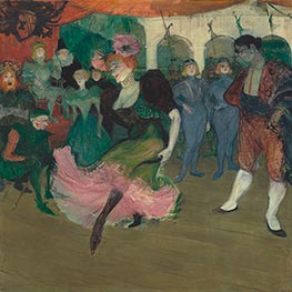 Marcelle Lender Dancing the Bolero in Chilperic, c.1895/96 by Toulouse-Lautrec | Painting Reproduction