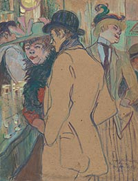 Alfred la Guigne, 1894 by Toulouse-Lautrec | Painting Reproduction