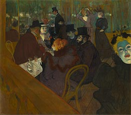 At the Moulin Rouge, c.1892/95 by Toulouse-Lautrec | Painting Reproduction
