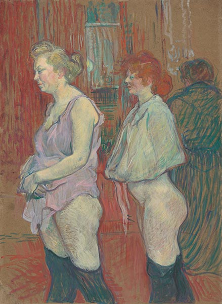 Rue des Moulins, 1894 | Toulouse-Lautrec | Painting Reproduction