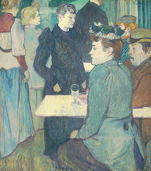 A Corner of the Moulin de la Galette, 1892 | Toulouse-Lautrec | Painting Reproduction