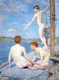 The Bathers, 1889 by Tuke | Painting Reproduction