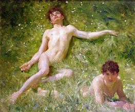 The Sunbathers | Tuke | Painting Reproduction