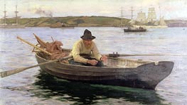The Fisherman | Tuke | Gemälde Reproduktion