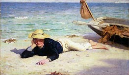 A Hot Summer Day, 1885 by Tuke | Painting Reproduction