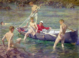 Ruby, Gold and Malachite, 1902 by Tuke | Painting Reproduction