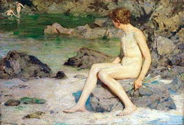 Cupid and the Sea Nymphs, 1899 by Tuke | Painting Reproduction