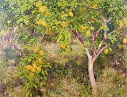 The Lemon Tree, 1893 by Tuke | Painting Reproduction