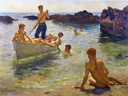 Morning Splendour, 1922 by Tuke | Painting Reproduction